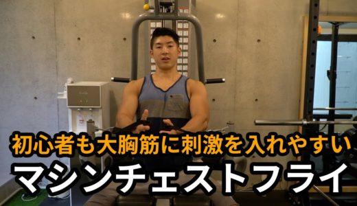 トレーニング解説「マシンチェストフライ」~初心者の方も大胸筋に刺激を入れやすい種目~