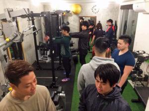 Shibuya Fitness Sharezのパーソナルトレーナー養成スクール風景2